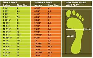 How To Find Your Correct Foot Size Shoe Chart Knitting