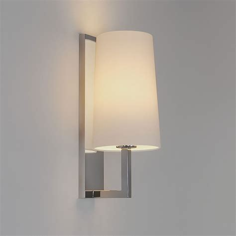 astro riva 350 polished chrome bathroom wall light at uk