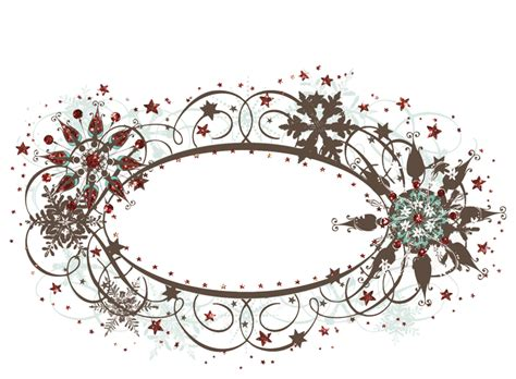 oval christmas frames fancy designs magic collection glitter cuts tranparencies oval snow frame