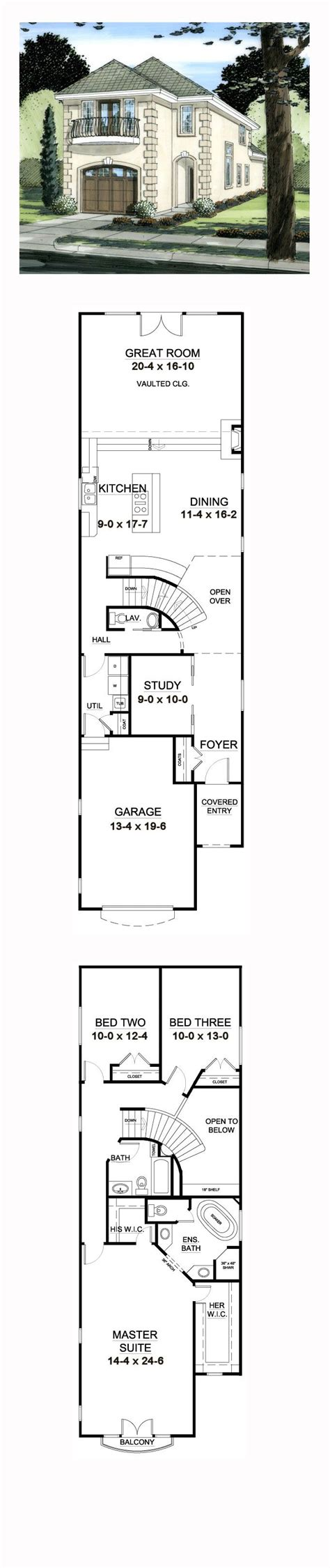 25+ Best Ideas About Narrow House Plans On Pinterest