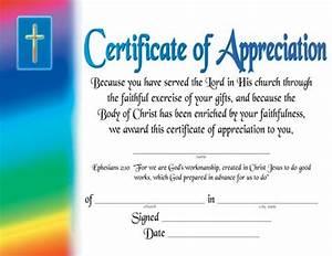 certificate of appreciation religious certificate of With pastor appreciation certificate template free