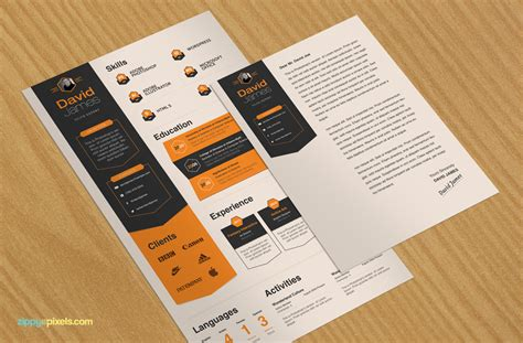 Best Color Palettes For Resume by Corporate Designers Resume Template Cover Letter 3 Colors In Psds