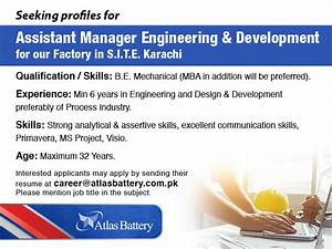 Atlas Battery Assistant Manager Engineering & Development ...