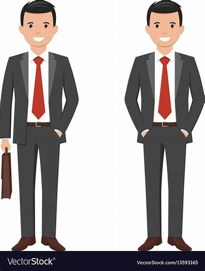 Businessman Cartoon Vector Smiling Young