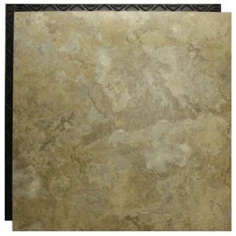 Vinyl Plank Flooring Underlayment Home Depot by Place N Go Travertine Beige 18 5 In X 18 5 In