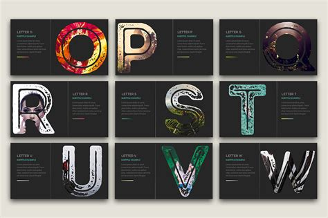 alphabet powerpoint powerpoint template