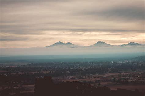 picture fog sky landscape sunset mountain cloud