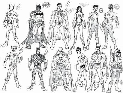 Justice League Coloring Pages Printable Superhero Superheroes