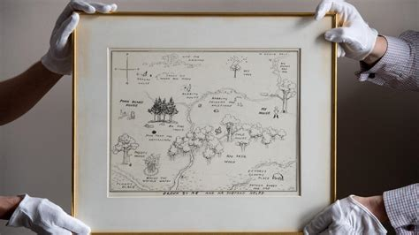 Original Map Of Winnie-the-pooh's Hundred Acre Wood