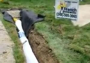 Easy Flow Drainage : ez drain flow vs gravel stone french drain french drain systems curtain drains macomb ~ Frokenaadalensverden.com Haus und Dekorationen