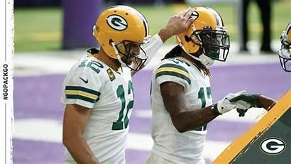 Packers Rodgers Vikings Adams Davante Aaron Nfl