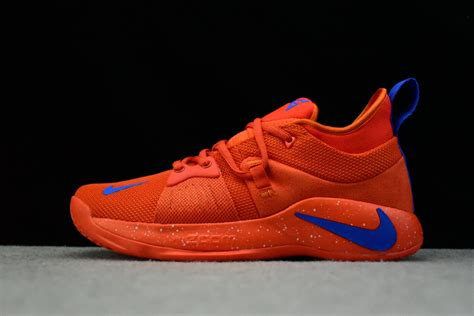 nike pg  team orangesignal blue mens basketball shoes