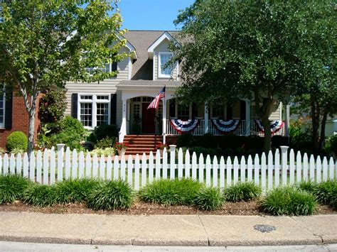 Living The American Dream With A White Picket Fence