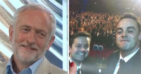 Jeremy Corbyn Fails To Identify Ant And Dec In Bbc Labour