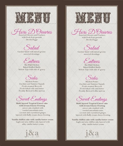 diy wedding buffet menu ideas wedding menu buffet menu diy print wedding and party