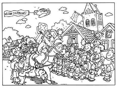 Kleurplaat Sinterklaas Grappig by 180 Best Kleurplaten Sinterklaas Images On