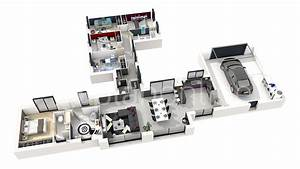 maison elifae With plan maison moderne 3d 6 architecture dinterieur et plans 3d