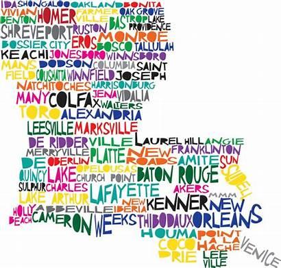 Louisiana Maps State Hilarious Dat