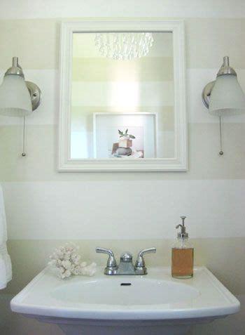 half bathroom paint ideas how to paint subtle horizontal wall stripes