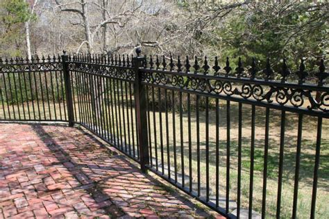 iron fence ideas wrought iron fence designs with black paint color home interior exterior