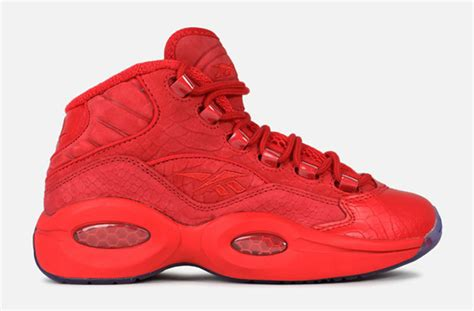 teyana taylor question shoes teyana taylor reebok question red sneakerfiles