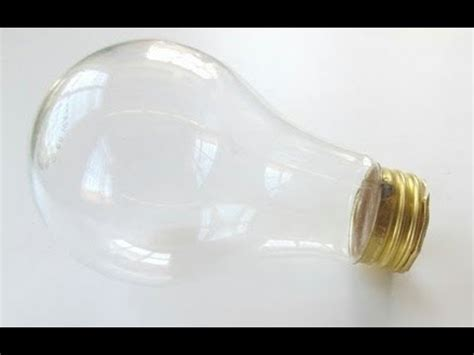 empty light bulb how to empty hollow a light bulb without breaking it
