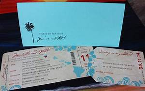 turquoise red hawaiian themed antique boarding pass With hawaii themed wedding invitations