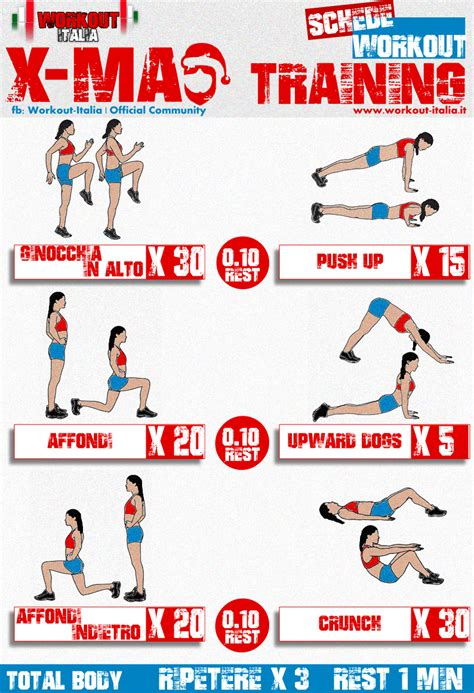 workout in casa scheda workout natale total total workout