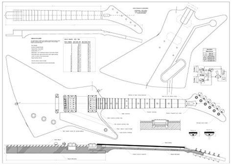 Set Of 4 Electric Guitar Plans Gibson Explorer Gibson