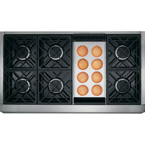 monogram  cu ft  cleaning freestanding double oven gas convection range stainless steel