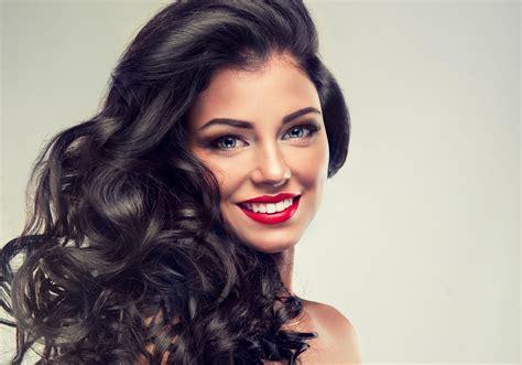 Download wallpaper look, background, smile, lipstick, make