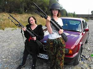 Girls... With Guns.. and a Car by Sprocket-man on DeviantArt