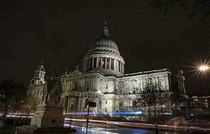 Paul St Cathedral London Night Lights Section