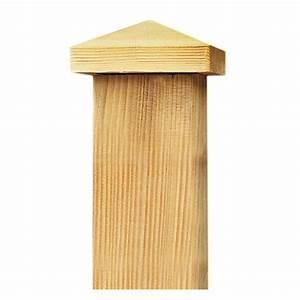 Lame De Terrasse Bricomarché : capuchon pour poteau de bois de 7 panneau portail ~ Dailycaller-alerts.com Idées de Décoration