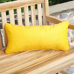 Mozaic, Company, Sunbrella, Solid, Outdoor, Lumbar, Pillow, With, Knife, Edge, -, Set, Of, 2