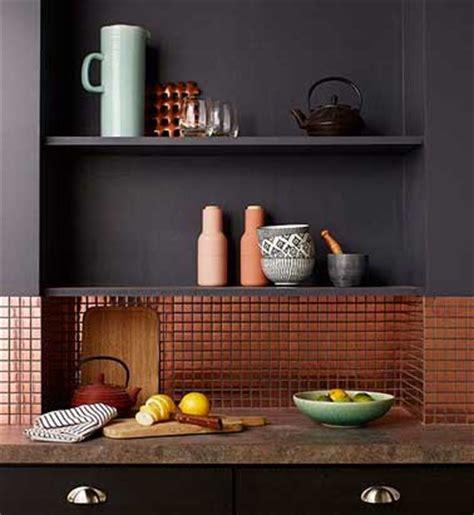carrelage adhesif pour cuisine crédence cuisine en carrelage adhésif cuivre