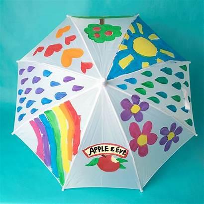 Umbrella Diy Painted Painting Apple Umbrellas Appleandeve