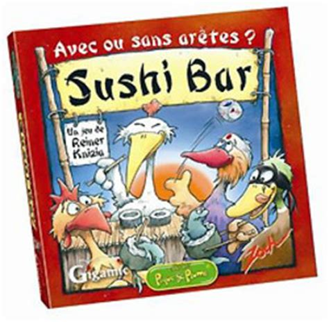 jeu de cuisine sushi sushi bar sushi bar un jeu de reiner knizia jeu de société tric trac