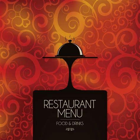 restaurant menu cover  vintage design