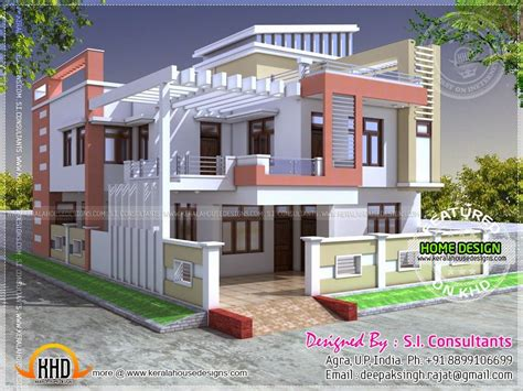 modern indian house   square feet