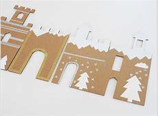 DIY and free Printable winter Cardboard Castle