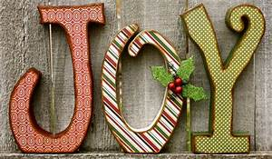 christmas quotjoyquot chunky wood letters With joy christmas letters