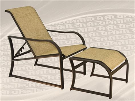Slingback Patio Chairs With Ottoman by Caymen Sling Line Patio Furniture