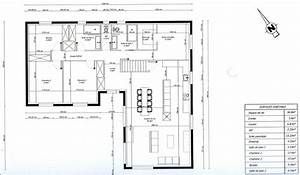 photo quotplan de maison en l 3 chambres 1 bureauquot maison With plans de maison en l 4 maison genille