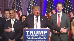 Presidential Candidate Donald Trump Delivers Victory ...