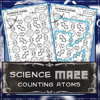 science maze counting atoms  science   tpt