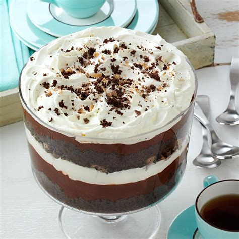 trifle dessert chocolate trifle recipe taste of home