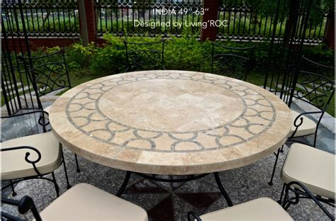 60cm outdoor garden mosaic marble dining table