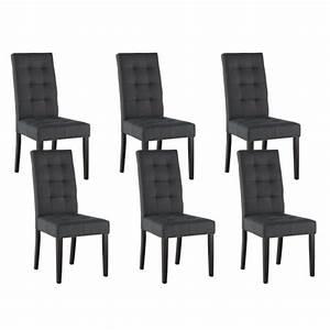 Chaise salle a manger cuir gris for Salle À manger contemporaineavec chaise cuisine grise