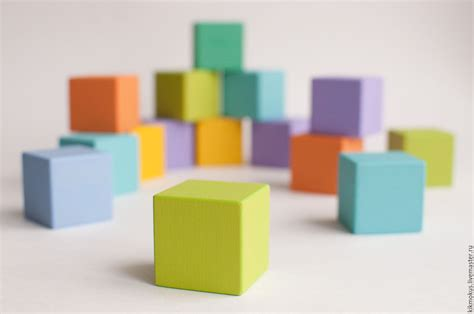 online cube colorful cubes for kids shop online on livemaster with